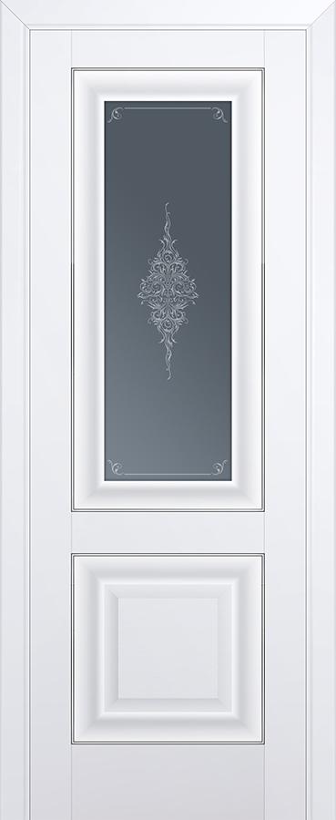 Дверь Аляска №28U 2000*700 серебро стекло кристалл графит купить в интернет-магазине Чайна-строй