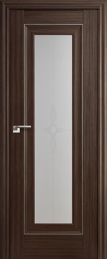 Дверь Натвуд Натинга № 24 Х стекло узор матовое 2000*700 молдинг серебро ЗСЗ купить в интернет-магазине Чайна-строй