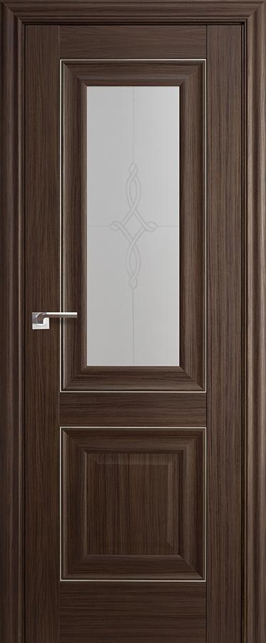 Дверь Натвуд Натинга № 28 Х стекло узор матовое молдинг серебро 2000*700 ЗСЗ купить в интернет-магазине Чайна-строй