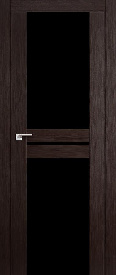 Дверь Венге мелинга №10 Х триплекс чёрный  2000*600 купить в интернет-магазине Чайна-строй