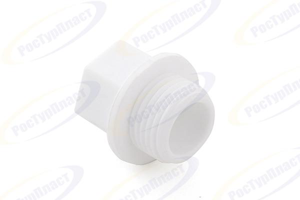 """Заглушка резьбовая 1"""" PN 25, белый РТП (10557) купить в интернет-магазине Чайна-строй"""