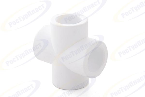 Крестовина 40 PN 25, белый РТП (14225) купить в интернет-магазине Чайна-строй
