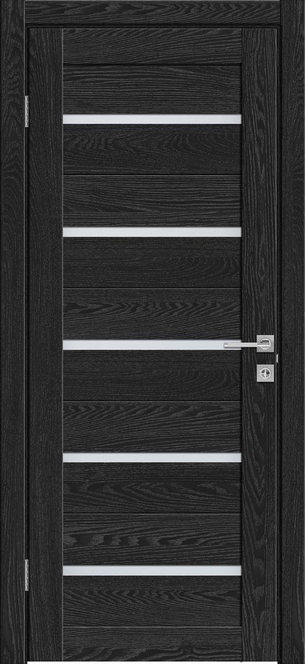 Дверное полотно 502 Антрацит со стеклом SATINATO -60*200 см купить в интернет-магазине Чайна-строй