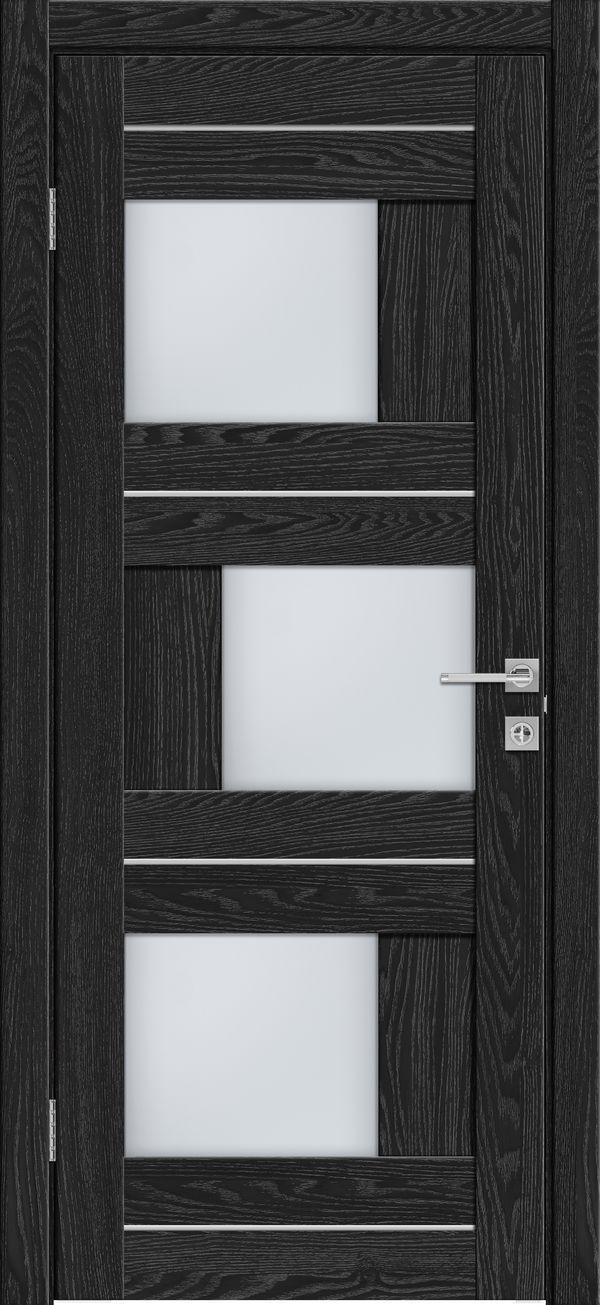 Дверное полотно 561 Антрацит со стеклом SATINATO -60*200 см ЗСЗ купить в интернет-магазине Чайна-строй