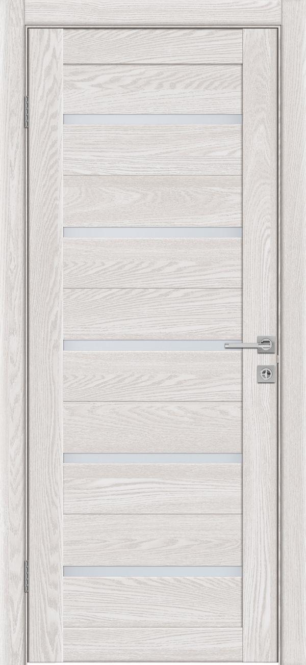 Дверное полотно 502 Латте 3D Браш со стеклом SATINATO -0,7 купить в интернет-магазине Чайна-строй