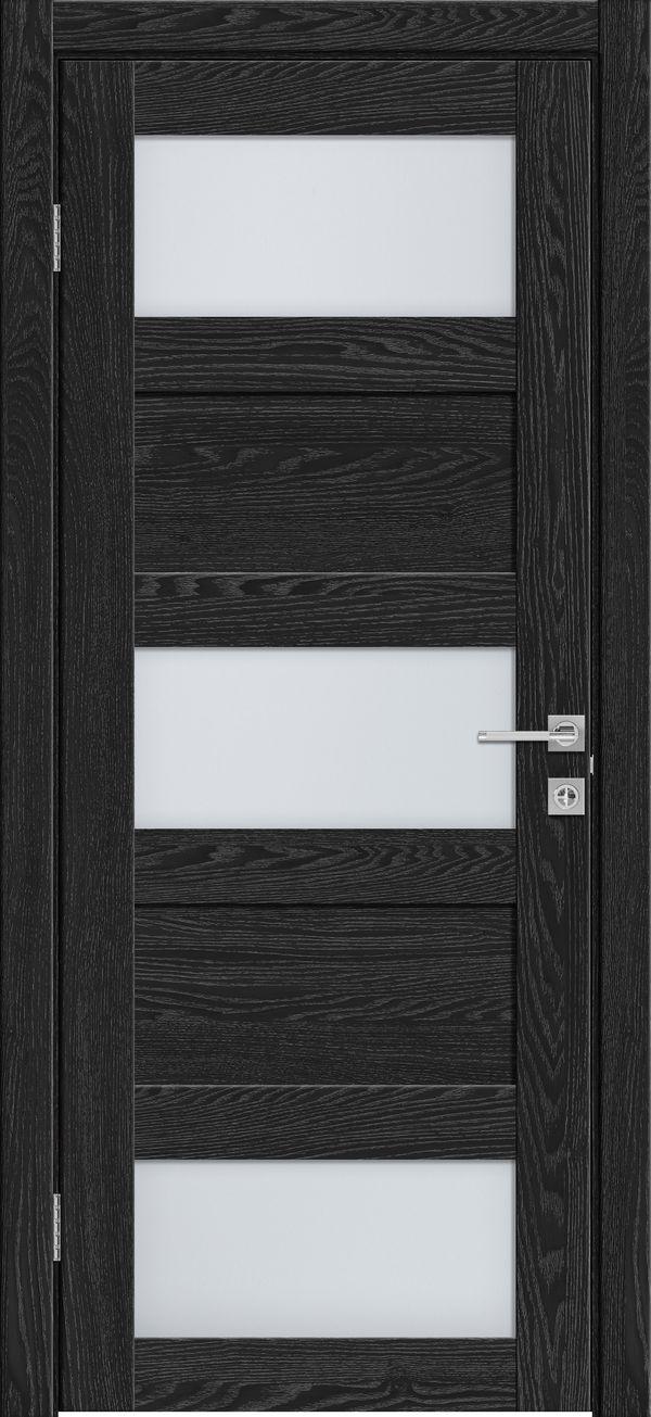 Дверное полотно 547 Антрацит со стеклом SATINATO -60*200 см  купить в интернет-магазине Чайна-строй