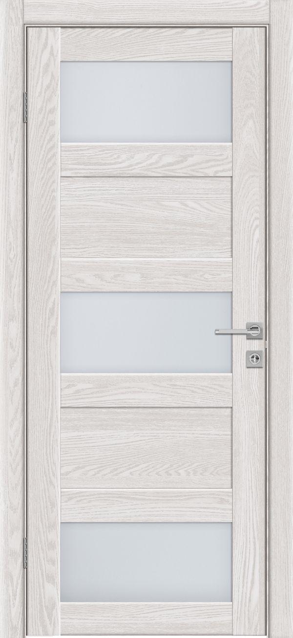 Дверное полотно 547 Латте со стеклом SATINATO -0,6 купить в интернет-магазине Чайна-строй