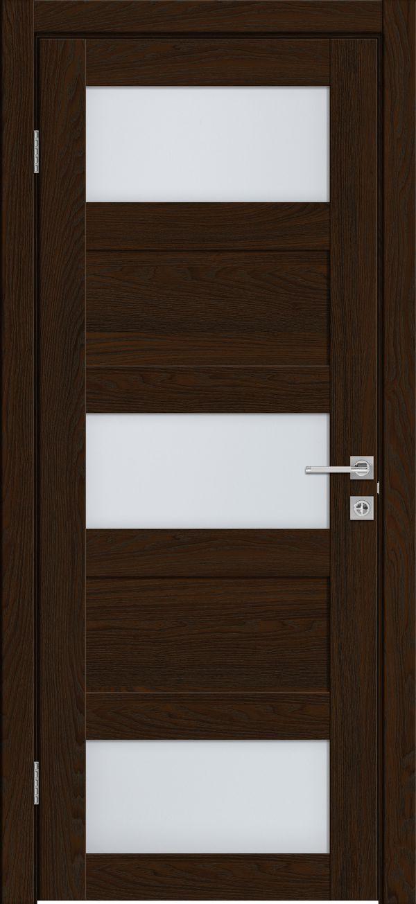 Дверное полотно 547 Бренди со стеклом SATINATO -0,6 ЗСЗ купить в интернет-магазине Чайна-строй