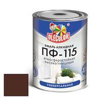Эмаль ПФ-115 шоколадный 0,8кг OLECOLOR купить в интернет-магазине Чайна-строй