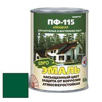 Эмаль алкидная ПФ-115 зеленый 0,9кг FARBITEX купить в интернет-магазине Чайна-строй