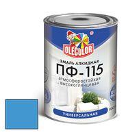 Эмаль алкидная OLECOLOR ПФ-115 глянцевая голубая 0.8 кг купить в интернет-магазине Чайна-строй
