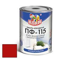 Эмаль алкидная OLECOLOR ПФ-115 глянцевая красная 0.8 кг купить в интернет-магазине Чайна-строй