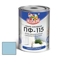 Эмаль алкидная OLECOLOR ПФ-115 глянцевая светло-голубая 0.8 кг купить в интернет-магазине Чайна-строй