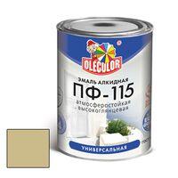 Эмаль алкидная OLECOLOR ПФ-115 глянцевая бежевая 0.8 кг купить в интернет-магазине Чайна-строй