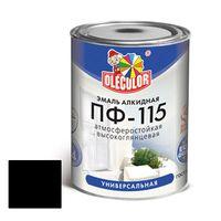 Эмаль алкидная OLECOLOR ПФ-115 глянцевая черная 0.8 кг купить в интернет-магазине Чайна-строй