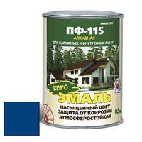 Эмаль алкидная ПФ-115 синий 2,7кг FARBITEX купить в интернет-магазине Чайна-строй