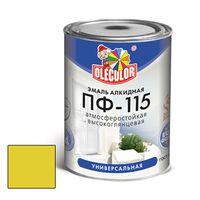 Эмаль алкидная OLECOLOR ПФ-115 глянцевая желтая 0.8 кг купить в интернет-магазине Чайна-строй
