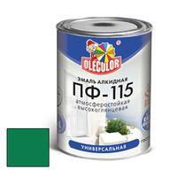 Эмаль алкидная OLECOLOR ПФ-115 глянцевая зеленая 0.5 кг купить в интернет-магазине Чайна-строй