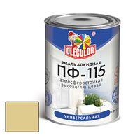 Эмаль алкидная OLECOLOR ПФ-115 глянцевая кремовая 1.8 кг купить в интернет-магазине Чайна-строй