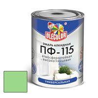Эмаль алкидная OLECOLOR ПФ-115 глянцевая салатовая 1.8 кг купить в интернет-магазине Чайна-строй