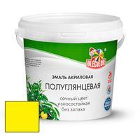 Эмаль акриловая OLECOLOR полуглянцевая желтая 0.8 кг купить в интернет-магазине Чайна-строй