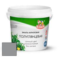 Эмаль акриловая полуглянцевая серый 0,8кг OLECOLOR купить в интернет-магазине Чайна-строй