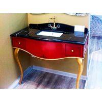 Caprigo Палаццо тумбо-консоль B014/Gold + раковина + столешница мрамор купить в интернет-магазине Чайна-строй