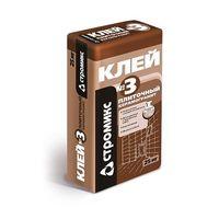 Клей плиточный СТРОМИКС №3 для керамогранита 25кг купить в интернет-магазине Чайна-строй