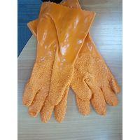 Перчатки рыбообработчика оранжевые резиновые купить в интернет-магазине Чайна-строй