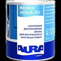Эмаль универсальная AURA LUXPRO REMIX AQUA 30 акриловая белая 0,9 л купить в интернет-магазине Чайна-строй