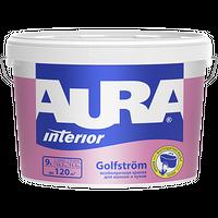 Краска интерьерная AURA GOLFSTROM особопрочная матовая белая 9 л купить в интернет-магазине Чайна-строй