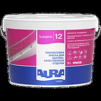 Краска интерьерная AURA LUXPRO 12 латексная полуматовая белая 9 л купить в интернет-магазине Чайна-строй
