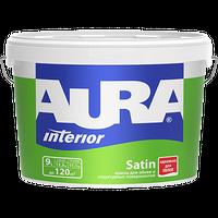 Краска для обоев AURA SATIN белая матовая 0,9 л купить в интернет-магазине Чайна-строй