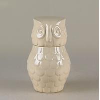 Шкатулка керамика Сова (белый) M  купить в интернет-магазине Чайна-строй