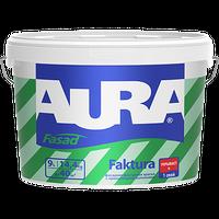 """Фасадная  краска с армир волокнами """"AURA Fasad Faktura"""" 9л купить в интернет-магазине Чайна-строй"""
