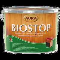 Биозащитный грунт для древесины Aura Biostop бесцветный 9 л купить в интернет-магазине Чайна-строй