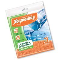 Салфетка бытовая ХОЗЯЮШКА Мила целлюлоза 150*150 мм 3 шт купить в интернет-магазине Чайна-строй