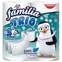 """Туалетная бумага """"Familia Trio"""" белая 3 слоя, 4 рулона купить в интернет-магазине Чайна-строй"""