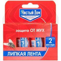 ЧИСТЫЙ ДОМ липкая лента от мух с аттрактантом 4 шт купить в интернет-магазине Чайна-строй