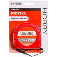 Рулетка Universe, пластиковый корпус, автоматич. сматывание, 25 мм*7.5 м купить в интернет-магазине Чайна-строй