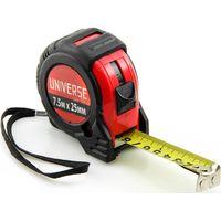 Рулетка Universe, обрезиненный корпус, автоматич. сматывание, 25 мм*7.5 м купить в интернет-магазине Чайна-строй