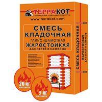 """Смесь кладочная """"Терракот"""" Жаростойкая 5кг купить в интернет-магазине Чайна-строй"""