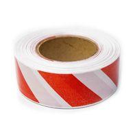 Лента сигнальная (бело-красная) 50мм купить в интернет-магазине Чайна-строй