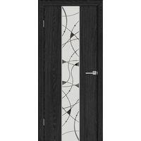 Дверное полотно LUXURY 317 Антрацит 3D Браш ПО художественное зеркало -60*200см ЗСЗ купить в интернет-магазине Чайна-строй