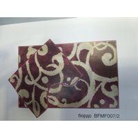 Компл. ковров Узоры Микрофиб. 80*50&40*50 бордо BF MF 007/2 купить в интернет-магазине Чайна-строй