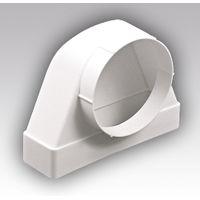 Соединитель угловой плоского канала с круглым 60120 СК 100ФП купить в интернет-магазине Чайна-строй