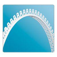 """Профиль углозащитный арочный """"Идеал"""" перфорированный пластиковый 25х25х3000 мм купить в интернет-магазине Чайна-строй"""