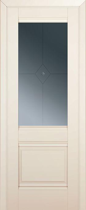 Дверь Магнолия сатинат  №2U 2000*800 стекло узор купить в интернет-магазине Чайна-строй