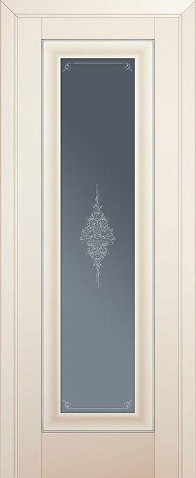 Дверь Магнолия сатинат №24U 2000*800 серебро стекло кристалл графит ЗСЗ купить в интернет-магазине Чайна-строй