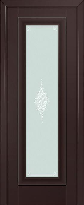 Дверь Тёмно-коричневый матовый №23U 2000*800 серебро ЗСЗ купить в интернет-магазине Чайна-строй